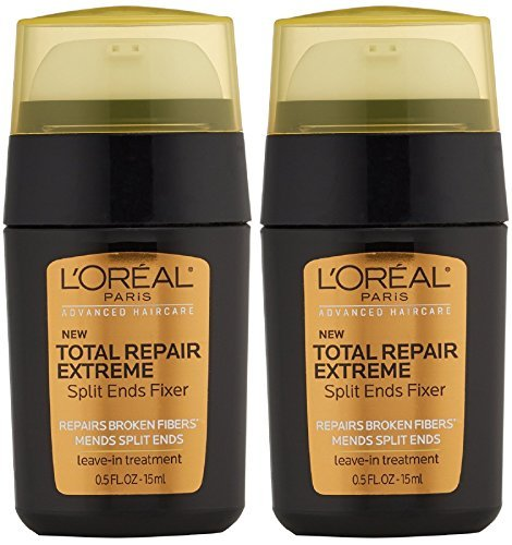 L'Oreal Advanced Haircare Total Repair Extreme Split Ends Fixer Leave-In Treatment 0.50 oz (Pack of 2) (Best Solution For Split Ends)