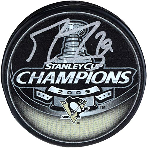 - Marc-Andre Fleury Pittsburgh Penguins Autographed 2009 Stanley Cup Champions Logo Hockey Puck - Fanatics Authentic Certified