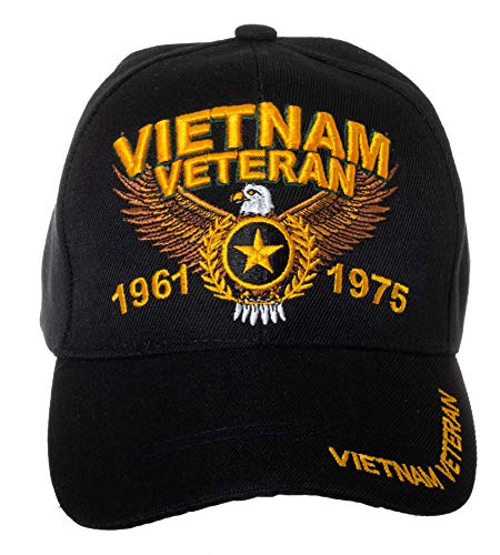 - U.S. Military Cap Hat Vietnam Veteran Cap ARMY MARINE NAVY AIR FORCE (Vietnam Veteran Black)