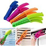 Bumud Microfiber Wuzzy Blind Duster Shutters Cleaner Window Brushes -- Set of 4