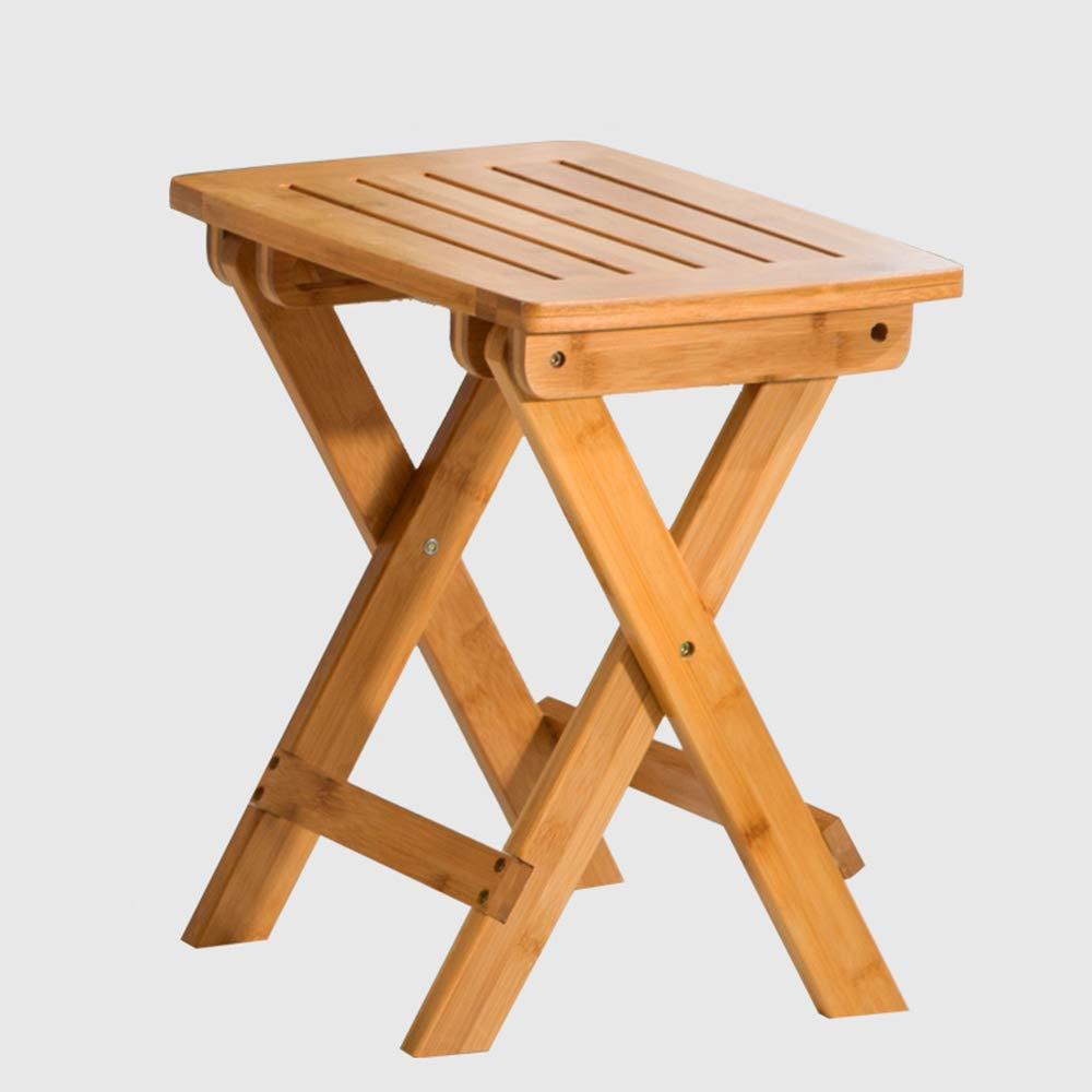 C LJHA ertongcanyi Leisure Solid Wood Foldable Footstool Modern Portable Thickened Square Stool Household Simple Low Stool Space-Saving Durable Chair (Size   C)