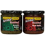 Arriba! Red Salsa and Green Salsa Combo Pack, 16 Ounce Jars (Pack of 4)