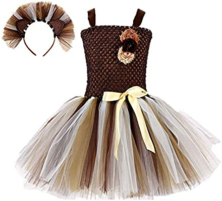 Girls Princess Christmas Deer Costume Tutu Party Cosplay Fancy Dress up Clothes