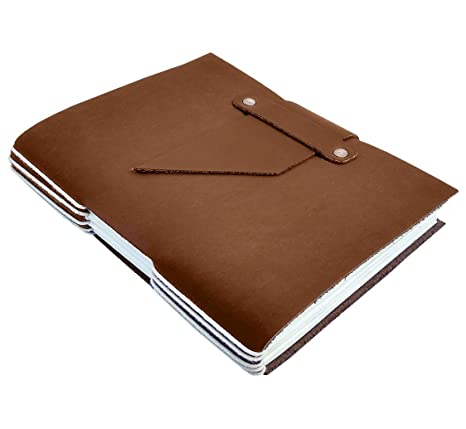 47b06e4c85e3 Image Unavailable. Image not available for. Color  Genuine Leather Handmade  Journal to Write in Notebook Non-Refillable Diary ...