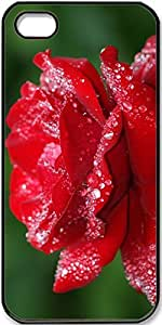 iPhone 4/4s Case,Wet-Rose Case for Black iPhone 4 4s