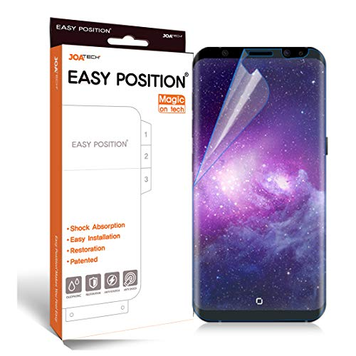 [Patented] Galaxy S8 Screen Protector Film (2-Pack) Perfect Touch & Sensitivity Anti-Shock Anti-Scratch Self-Healing Easy Install [Easy Position] [Magic on Tech] [Clear, Case-Friendly]
