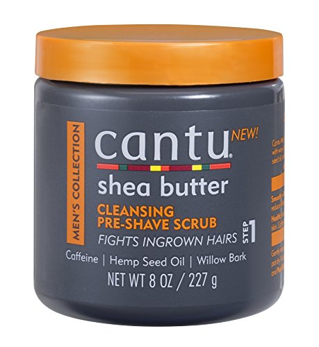 Cantu Shea Butter Men's Collection Cleansing Pre-Shave Scrub, 8 Ounce