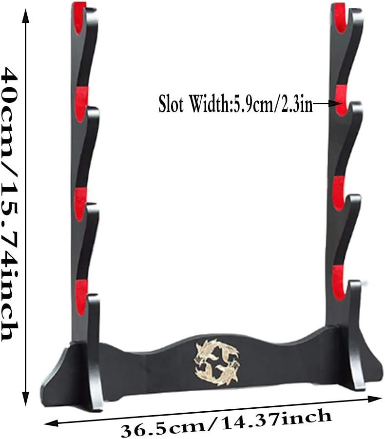 WSabc Schwerthalter Samurai Schwert Samtlack Finish Stand Display Katana Wakizashi Tanto Schwertregal,1 Tier