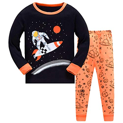 3T Boys Pajamas Children Clothes Set Space 100% Cotton Little Kids PJs Sleepwear