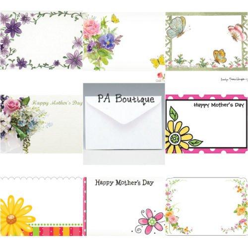 40ct. MOTHER'S DAY Floral Bouquet Florist Blank Enclosure Cards & Envelopes (Floral Enclosure Cards)