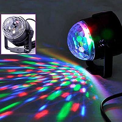 Docooler Auto Sound Activated 3W RGB LED Mini Crystal Magic Rotating Ball Effect LED Stage Lights for KTV Xmas Party Wedding Show Club Pub Disco DJ