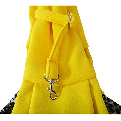 Pineocus Soft Cotton Blend Pet Dog Cat Sling Carrier Bag Bright Yellow