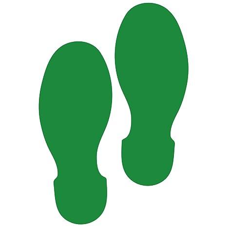 2145e748da2a64 Amazon.com   LiteMark 9 Inch Green Shoe Print Decal Stickers for ...