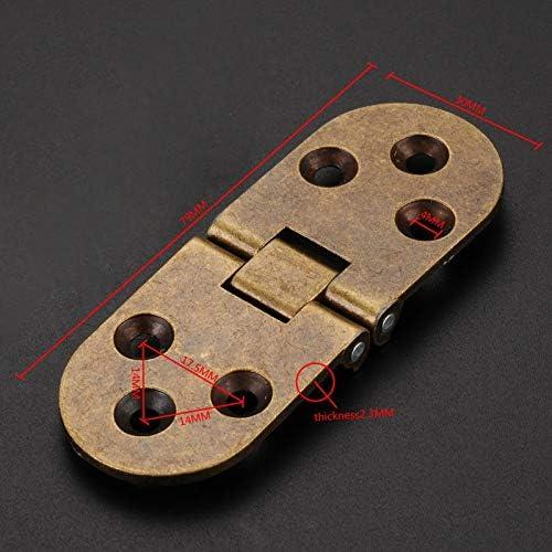 wangtao 2Pcs Flap Folding Hinges Hidden Hinge Cabinet Table Doors Thicken Zinc Alloy DIY Furniture Concealed Support Screws Color : Bronze