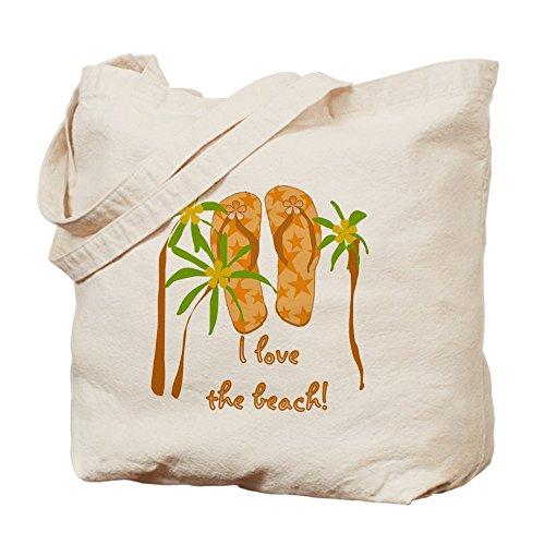 CafePress–Chanclas Playa–Gamuza de bolsa de lona bolsa, bolsa de la compra
