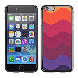 Plastic Shell Protective Case Cover || Apple iPhone 6 Plus 5.5 || Colors Paper Art Plum Purple @XPTECH