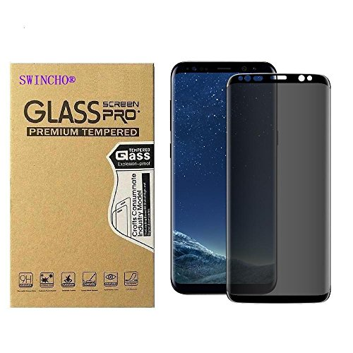 Galaxy S9 Plus Privacy Screen Protector SWINCHO Tempered Glass Screen Cover for Samsung Galaxy S9 Plus, Touch Sensitive Case Friendly Anti-Spy (Privacy)