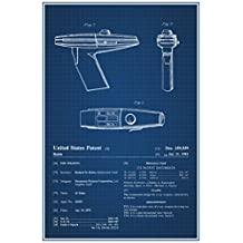 Star Trek Phaser Movie Toy Official Patent Blueprint Poster 12x18