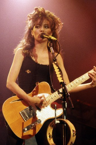 Susanna Hoffs The Bangles With Guitar 11x17 Mini Poster by Silverscreen