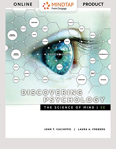 MindTap Psychology for Cacioppo/Freberg's Discovering Psychology: The Science of Mind - 6 months - 3rd Edition...