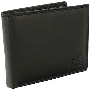 29200b50d571af Volmer ® Schwarze Herren Geldbörse echt Leder Querformat mit RFID Schutz  #SQ70