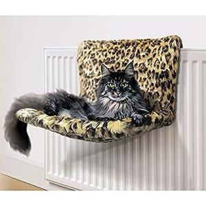 Danish Design Kumfy Kradle Leopard Radiator Cat Bed (wide)