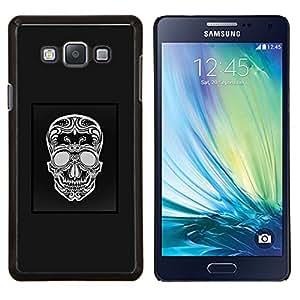 Stuss Case / Funda Carcasa protectora - Cartel Gris Patrón Blanco Cráneo Negro - Samsung Galaxy A7 A7000