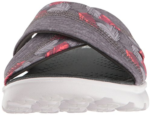 Skechers On-the-Go 400-Tropical, Sandalias Flip-Flop para Mujer Negro (Gry)