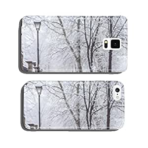 winter city park in morning cell phone cover case iPhone5