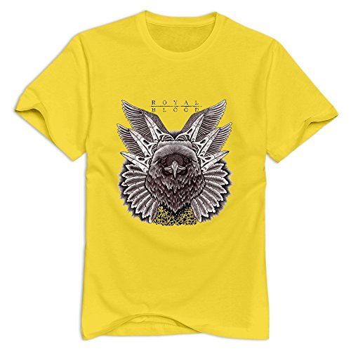 GYKU Men's Royal Blood T-Shirt Yellow US Size M,100% Organic Cotton -