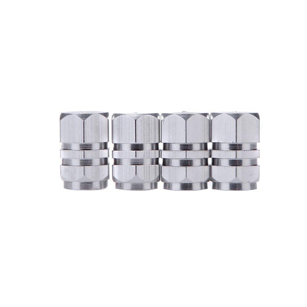 SODIAL Bouchon de valve R 4pcs Bouchons de Valves de Pneus Couvercles//Bouchons de Valves//Soupape de Roue//Pneu Camion Voiture pour Voitures Motos Velo