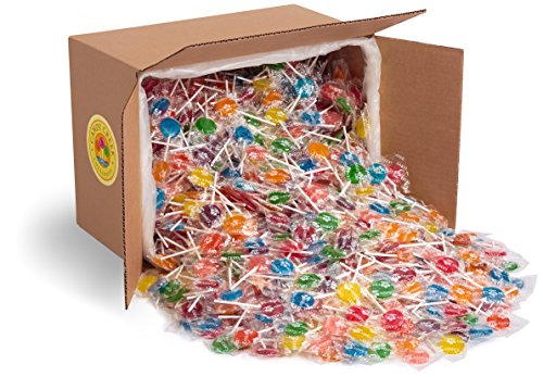 Candy Creek Fruit Lollipops, 18 pound Carton, Bulk Candy, Assorted Flavors]()