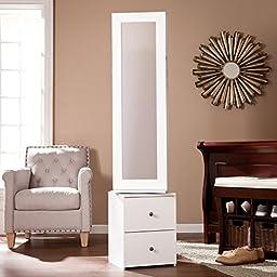 Darby Swivel Jewelry Storage in White