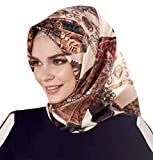 Armine 100% Silk Square Turkish Scarf Islamic Hijab Headscarf Spring 2017 #7709
