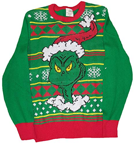 Fashion Christmas How The Grinch Stole Christmas Green Pullover Sweater - X-Large ()