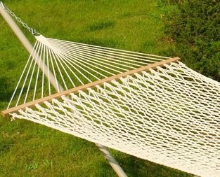 Rope Double Hammock with Spreader Bars Cotton