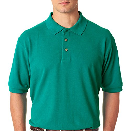 (UltraClub Men's Relaxed Fit Taped Neck Pique Polo Shirt, XX Large,)