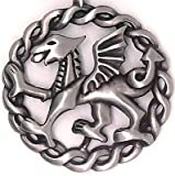 Medieval Viking Celtic Anglo-Saxons Welsh Wales Winged Red Dragon Pewter Pendant Necklace