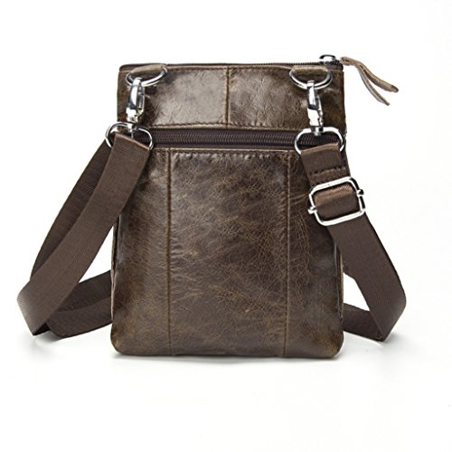 Shoulder Backpack Leather Small Bags Chest 3 Handbags 8 Resistant Genuine And Bag Shoulder Man 16x3x20cm Leather Sucastle Bag dPIYIq