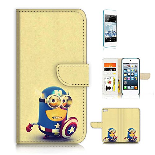 ( For ipod 5, itouch 5, touch 5 ) Flip Wallet Case Cover & Screen Protector Bundle! A20291 Minion Captain America