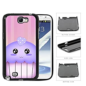 Kawaii Cupcake And Pink Vertical Stripes Hard Plastic Snap On Cell Phone Case Samsung Galaxy Note 2 II N7100