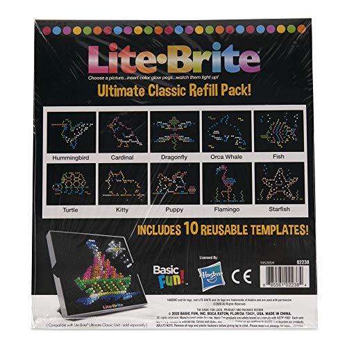 Basic Fun Lite Brite Ultimate Classic Refill Pack – Animal Theme – 10 Reusable Templates – Amazon Exclusive