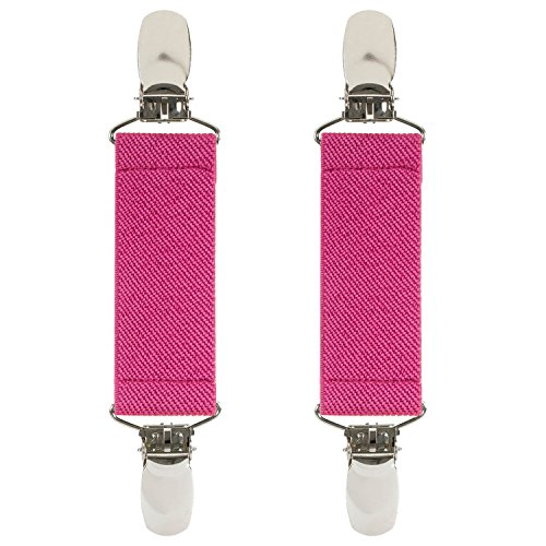 """Hold'Em 1 Boot Straps Elastic Extra Strong Metal Clip Made in USA Comfortable and Easy to Use Keeping Pants Smoothly and Nicely Tucked in Boots - 4"""" Inch -Fuschia"""