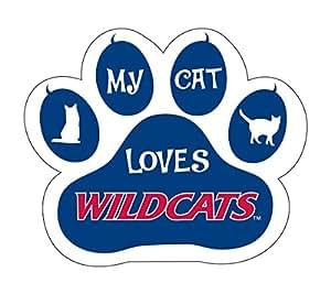 ARIZONA WILDCATS CAT PAW MAGNET-MY CAT LOVES ARIZONA MAGNET