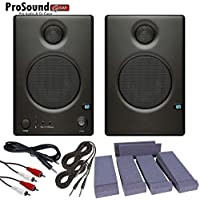 Presonus Ceres C4.5BT 2-Way Powered Speakers with Bluetooth - Talent Speaker PAD set - (4) Cables (ProSoundGear) Authorized Dealer