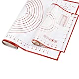 Reusable Non Stick Silicone Baking Mat Pizza Dough Maker Pastry – Set of 2 Mats – Food Safe – Ideal as Cookie Sheets, Kitchen Counter Mat, Dough Rolling Mat