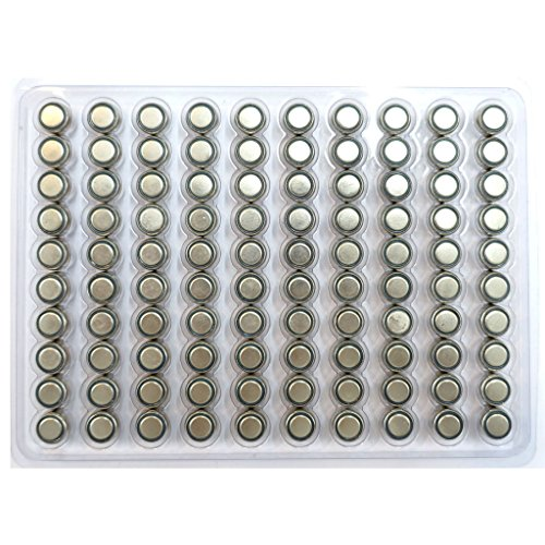 TrendBox (100Batteries) AG5 Alkaline 1.5V Button Cell Battery Single Use LR754 LR48 393-1W D309 546 393A Watch Toys Remotes Cameras