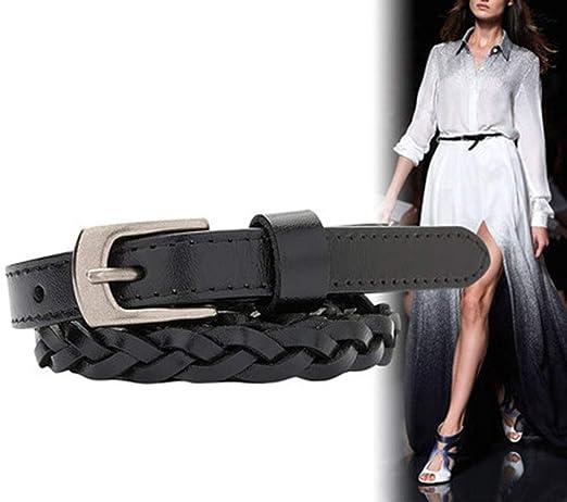 TINERS Cinturón Tejido de Capa, cinturón de pantalón de Vestir de ...