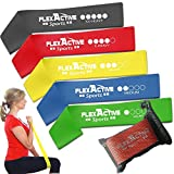 Resistance Loop Bands - Set of 5 Fitness Exercise Bands for Fitness Workouts - Stretching and...