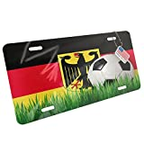Metal License Plate Soccer Team Flag Germany - Neonblond